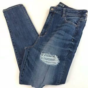 American Eagle Jegging Skinny Jeans 16 SHORT Blue